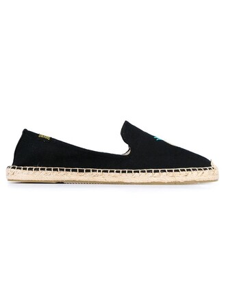 pineapple espadrilles black shoes