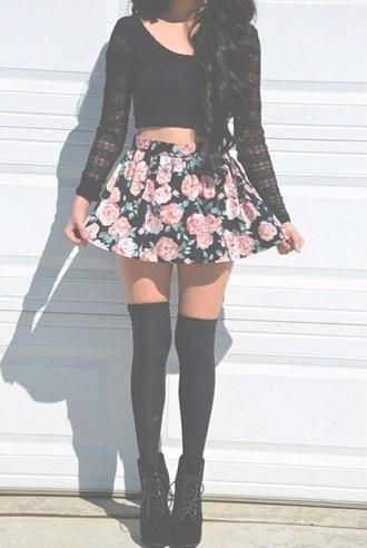 blouse shoes skirt socks