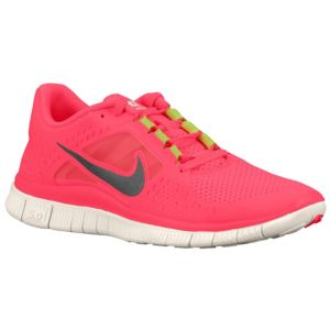 Nike Free Run   3 - Women's - Running - Shoes - Hot Punch/Sail/Reflect Silver