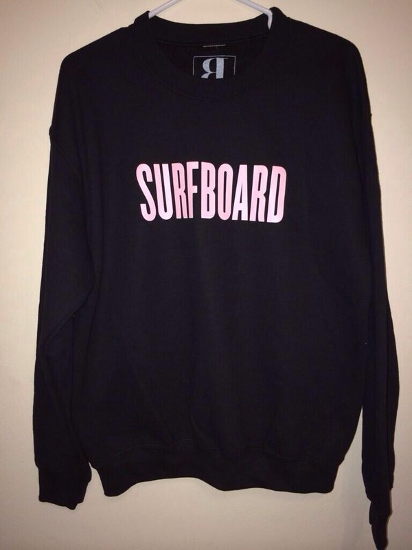 sweater black sweater surf board