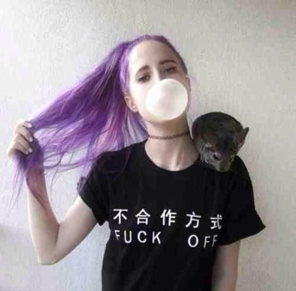 T-shirt: black, kawaii dark, shirt, pastel, pastel goth ...