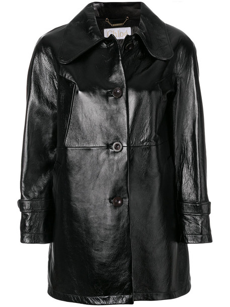 Chloe jacket leather jacket women mohair leather cotton black
