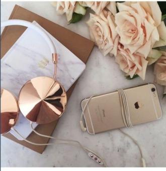 earphones rose gold