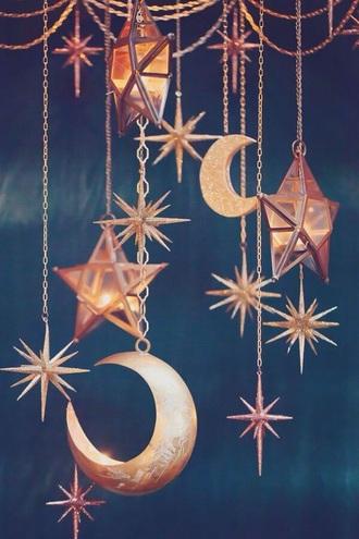 home accessory moon stars boho