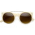 Designer Retro Circle Super Half Frame Flat Bar Sunglasses