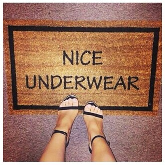home accessory nice underwear funny doormat shoes