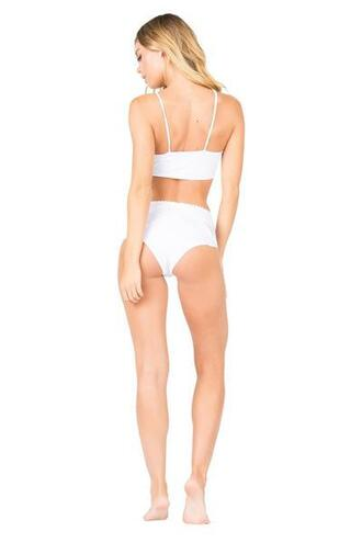 swimwear eyelet trimming bikini bottoms high waisted lolli swimwear white bikiniluxe