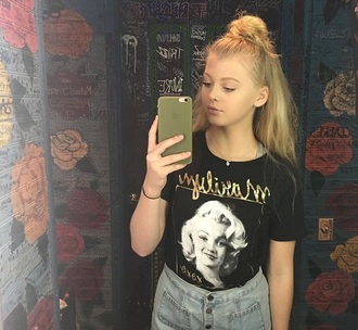 shirt black marilyn monroe