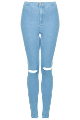 MOTO Bleached Ripped Joni Jeans - Topshop
