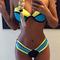 Color black bandage bikini|disheefashion
