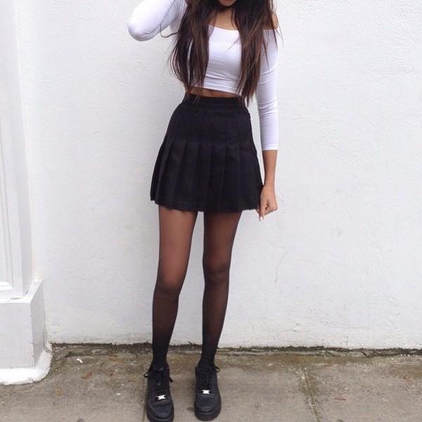 Isassy School Skirt Girls Box Pleat Navy Uniform Pressure
