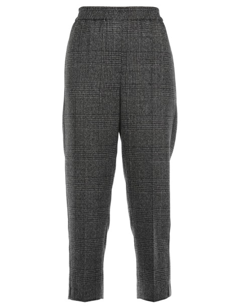 BRUNELLO CUCINELLI wool brown pants