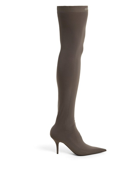 Balenciaga booties dark grey shoes