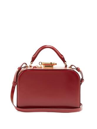 cross bag leather burgundy