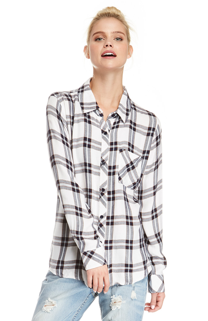 Rails Hunter Button Down Shirt in White XS - L | DAILYLOOK
