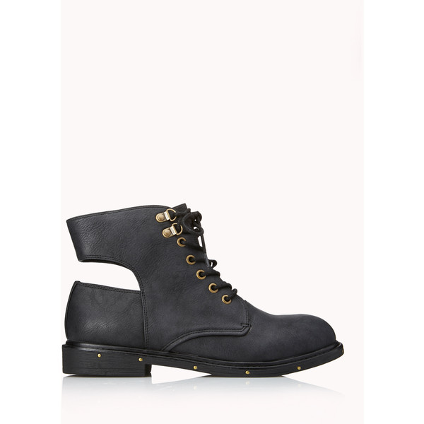 Go-To Combat Boots - Forever 21 - Polyvore