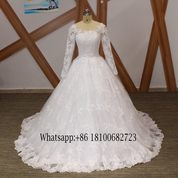 Ball Gown Lace Wedding Dresses for Plus Size