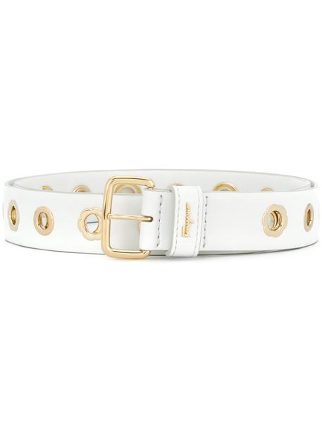 Salvatore Ferragamo women belt leather white
