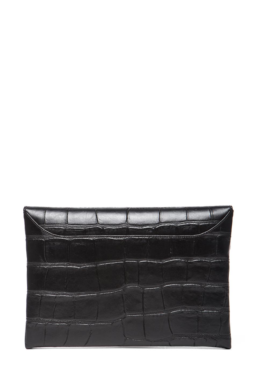GIVENCHY | Medium Stamped Croc Antigona Envelope in Black