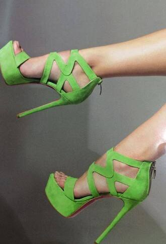 shoes green shoes