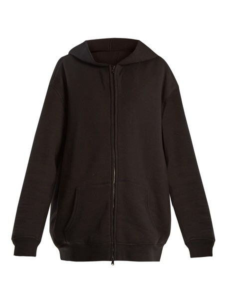 Raey sweatshirt zip japanese black sweater