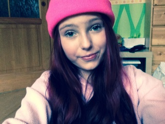 hat beanie niall style top elbow patches pink kleid