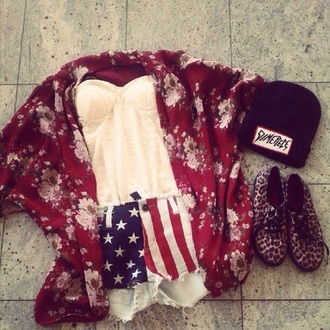 shorts usa cute strepless weheartit style shoes