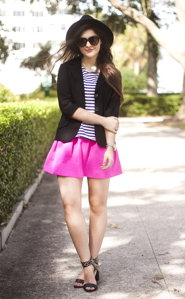 a walk in the park top jacket skirt shoes sunglasses jewels