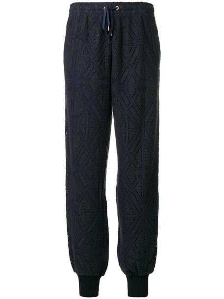 women cotton blue pants