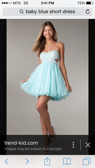 dress prom baby blue prom dress grad