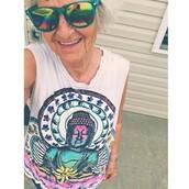 shirt,hippie,tie dye,funny shirt,grandma,blouse,buddha,colorful,cuffs,yin yang,yin-yang,boho,top
