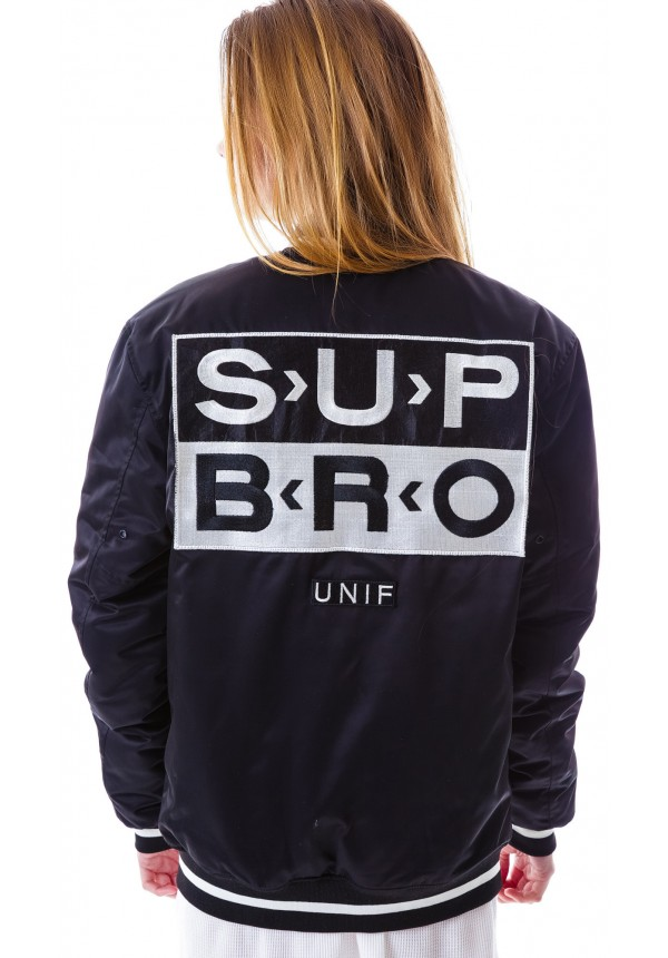 UNIF Sup Bro Bomber Jacket | Dolls Kill