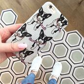 phone cover,yeah bunny,iphone case,cover,frenchie,dog,silver,glitter,frenchbulldog