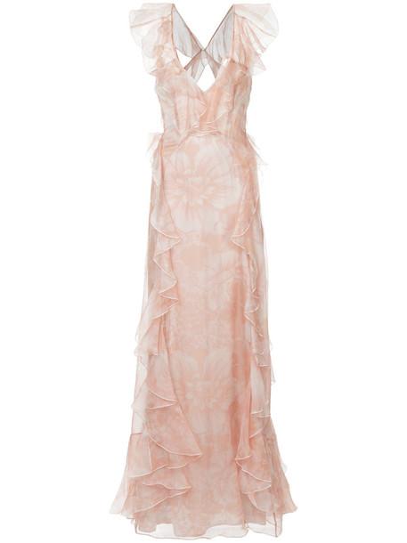 Alice McCall dress women silk purple pink