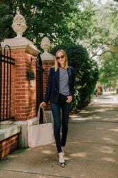 kelly in the city - a preppy chicago life,style and fashion blog,blogger,shoes,blazer,jeans,bag