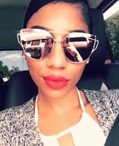 sunglasses,rose gold,mirrored sunglasses