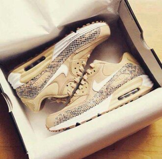 shoes nike shoes beige shoes snake print