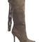 Knee high tassel boot - khaki