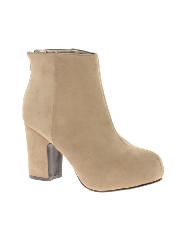medium heels suede zip brown shoes suede boots thick heel shoes