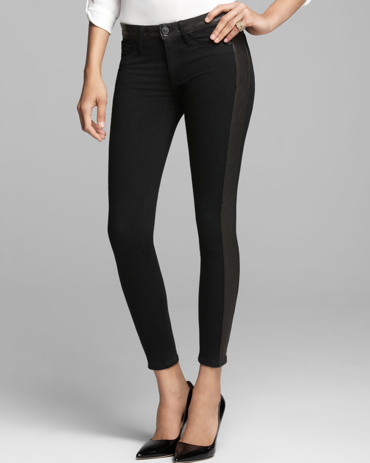 Jeans Leeloo Quilted Leather Stripe Bloomingdales .