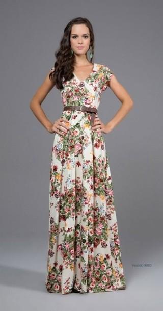 dress summer floral summer dress belt roses maxi dress floral maxi dress floral dress maxi