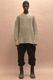 sweater,menswear,fashion week 2016,boots,pants,oversized sweater,oversized,NY Fashion Week 2016