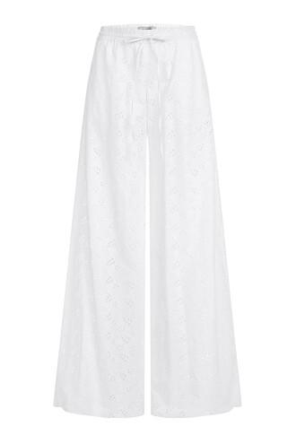 pants cotton white