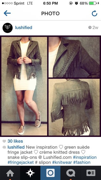 fringe green green jacket