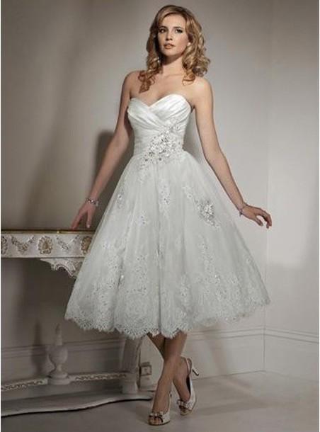 dress white dress brides dress short dress