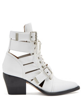 leather ankle boots,ankle boots,leather,white,shoes