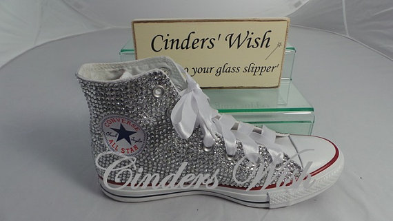 Wedding Converse  All over Sparkling rhinestone by CindersWish