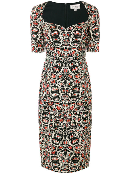 Temperley London dress women spandex cotton silk