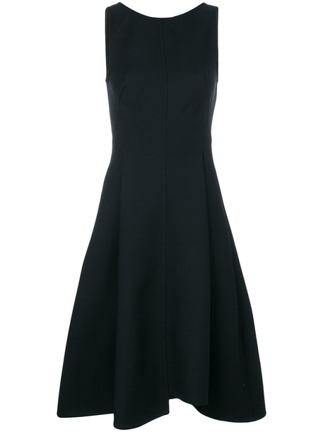 Dorothee Schumacher dress back women spandex black wool