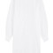Cotton shirt dress with cut-out sleeves
